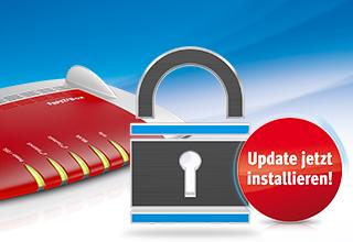 AVM Sicherheitshinweis Update Installieren